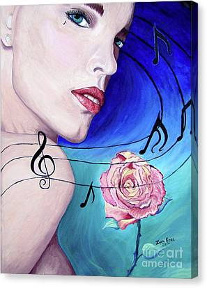 Marilyns Music In The Wind Canvas Print