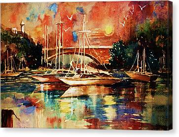 Marina Canvas Print by Al Brown