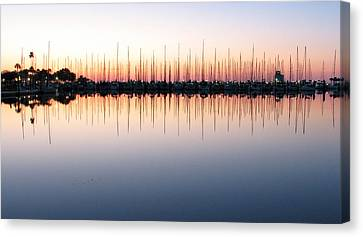 Canvas Print featuring the photograph Marina At Dawn by Farol Tomson