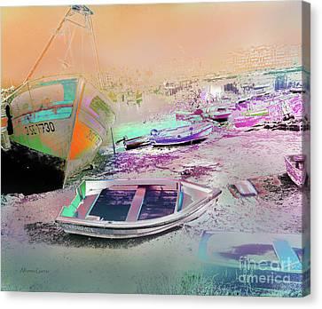 Marina De Huelva Canvas Print by Alfonso Garcia