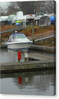Marina In The Spring Canvas Print by Karol Livote
