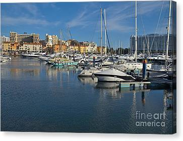 Marina Of Vilamoura At Afternoon Canvas Print by Angelo DeVal