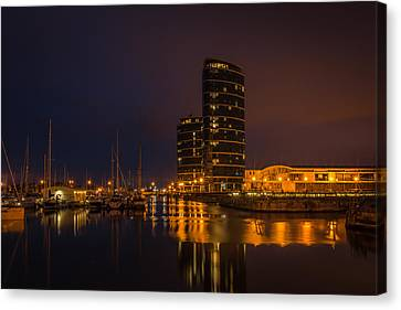 Canvas Print featuring the photograph Marina by Ryan Photography