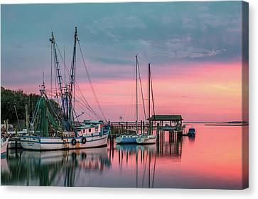 Marina Sunset Canvas Print