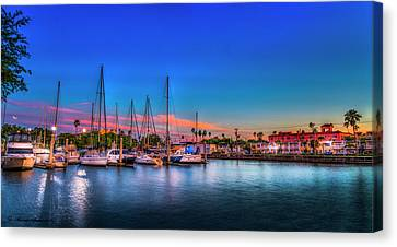 Marina Sunset Canvas Print by Marvin Spates