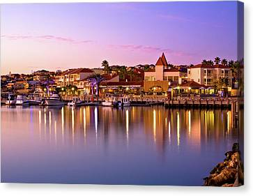 Canvas Print featuring the photograph Marina Sunset, Mindarie by Dave Catley