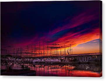 Marina Sunset Canvas Print