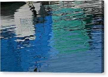 Marina Water Abstract 1 Canvas Print by Fraida Gutovich