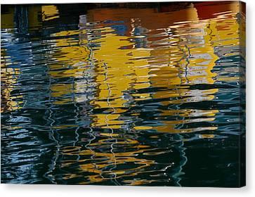 Marina Water Abstract 2 Canvas Print by Fraida Gutovich