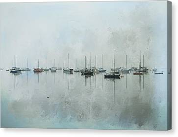 In The Misty Morning Canvas Print