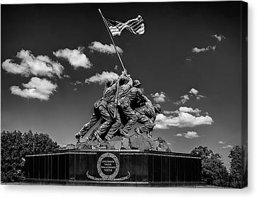 Marine Corps War Memorial Canvas Print by Andrew Soundarajan
