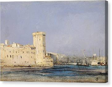Marine Fortress Canvas Print by Louis Eugene Gabriel Isabey