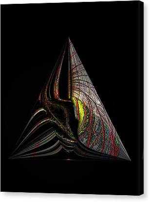 Canvas Print featuring the digital art Marine Life Abstract 3 by Irma BACKELANT GALLERIES