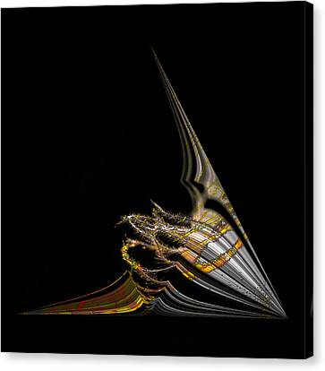 Canvas Print featuring the digital art Marine Life Abstrat1 by Irma BACKELANT GALLERIES