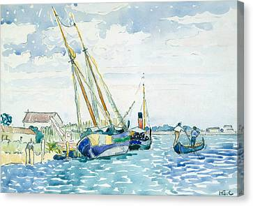 Marine Scene  Canvas Print by Henri-Edmond Cross