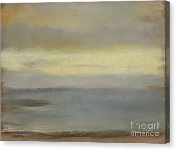 Marine Soleil Couchant Canvas Print by Edgar Degas