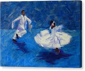 Marinera Nortenia Blue Canvas Print