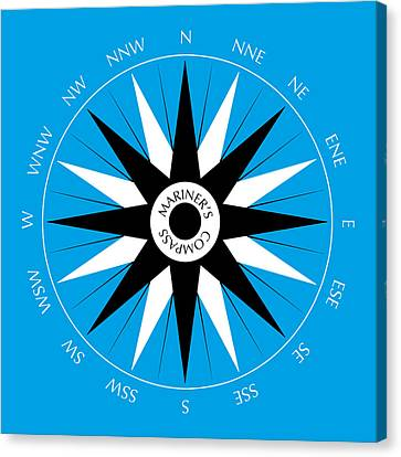 Mariner's Compass Canvas Print by Frank Tschakert