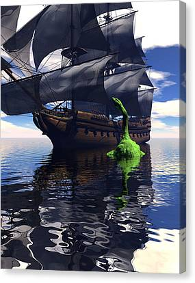 Mariner's Nightmare Canvas Print by Claude McCoy