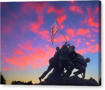 Marines At Dawn Canvas Print by JC Findley