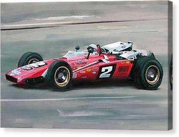 Mario Andretti Indy 500 Winner Canvas Print