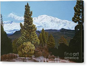 Marion Mountain In Winter Canvas Print
