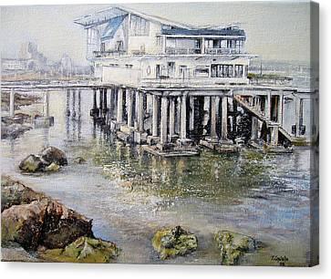 Maritim Club Castro Urdiales Canvas Print by Tomas Castano