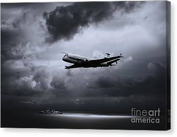 Sun Rays Canvas Print - Maritime Patrol And Reconnaissance by J Biggadike