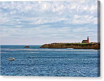 Mark Abbot Memorial Lighthouse - Lighthouse On The Beach - Santa Cruz Ca Usa Canvas Print by Christine Till
