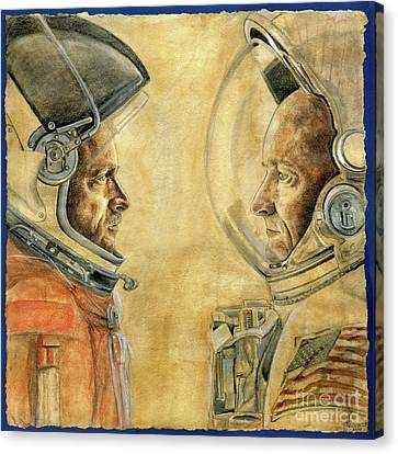 Gabby Giffords Canvas Print - Mark And Scott Kelly by Michelle Rouch