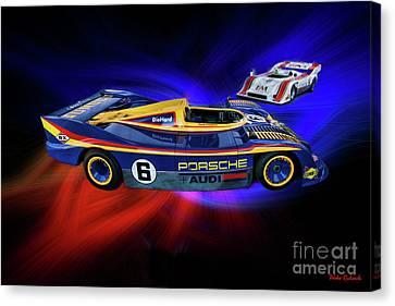 Mark Donohue And George Follmer Porsche Canvas Print by Blake Richards