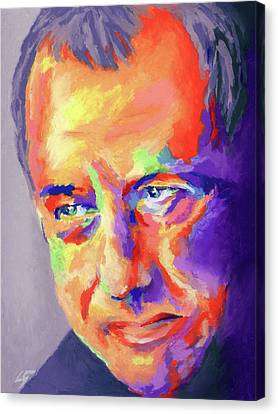 Canvas Print featuring the painting Mark Knopfler by Stephen Anderson