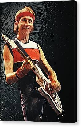 Canvas Print featuring the painting Mark Knopfler by Taylan Apukovska