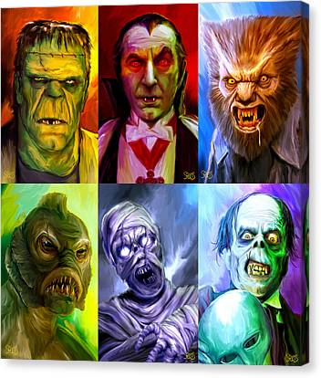 Mark Spears Monsters Group Canvas Print