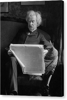 Famous Literature Canvas Print - Mark Twain - American Author And Humorist by War Is Hell Store