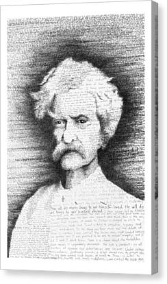 Mark Twain In His Own Words Canvas Print by Phil Vance