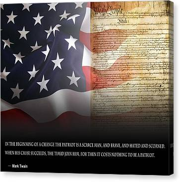 Mark Twains Patriot Canvas Print