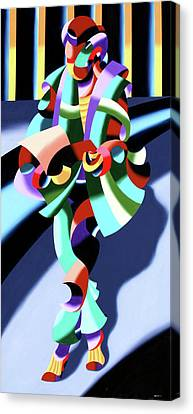 Mark Webster - Abstract Futurist Modern Woman In Tokyo Canvas Print by Mark Webster