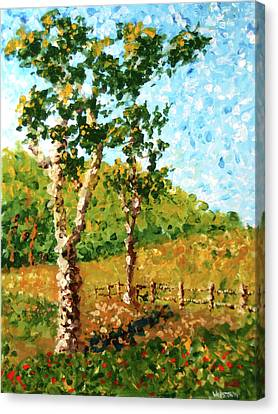 Mark Webster - Abstract Tree Landscape Acrylic Painting Canvas Print