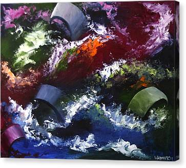 Canvas Print featuring the painting Mark Webster - Abstraction 1 by Mark Webster