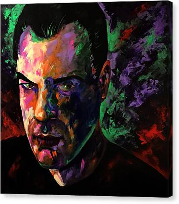 Canvas Print featuring the painting Mark Webster Artist by Mark Webster