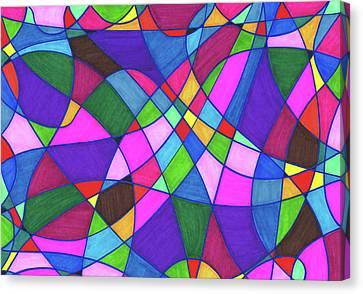 Marker Mosaic Canvas Print