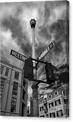 Market And Meeting Canvas Print by Wendy Mogul
