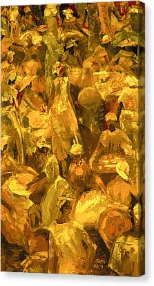 Market Canvas Print by Bayo Iribhogbe
