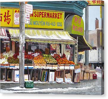 Market  Day  Canvas Print by Margit Sampogna