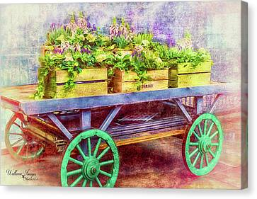Canvas Print featuring the photograph Market Flowers by Wallaroo Images