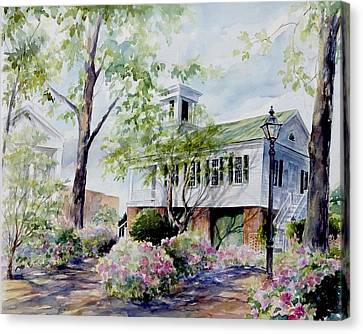 Market Hall In The Spring Canvas Print by Gloria Turner