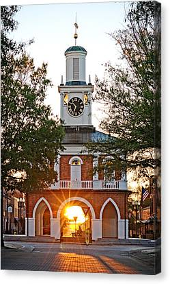 Market House Sunrise - 2015 November 11 Canvas Print