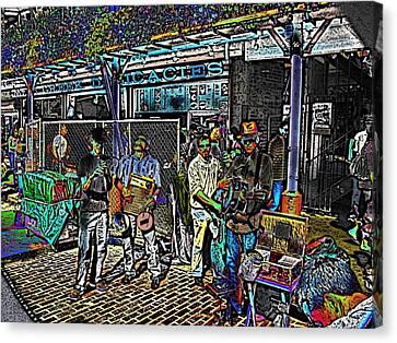 Market Interlude 2 Canvas Print by Tim Allen