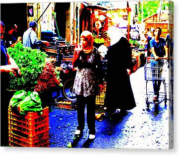 Market Scenes Of Beirut Canvas Print by Funkpix Photo Hunter